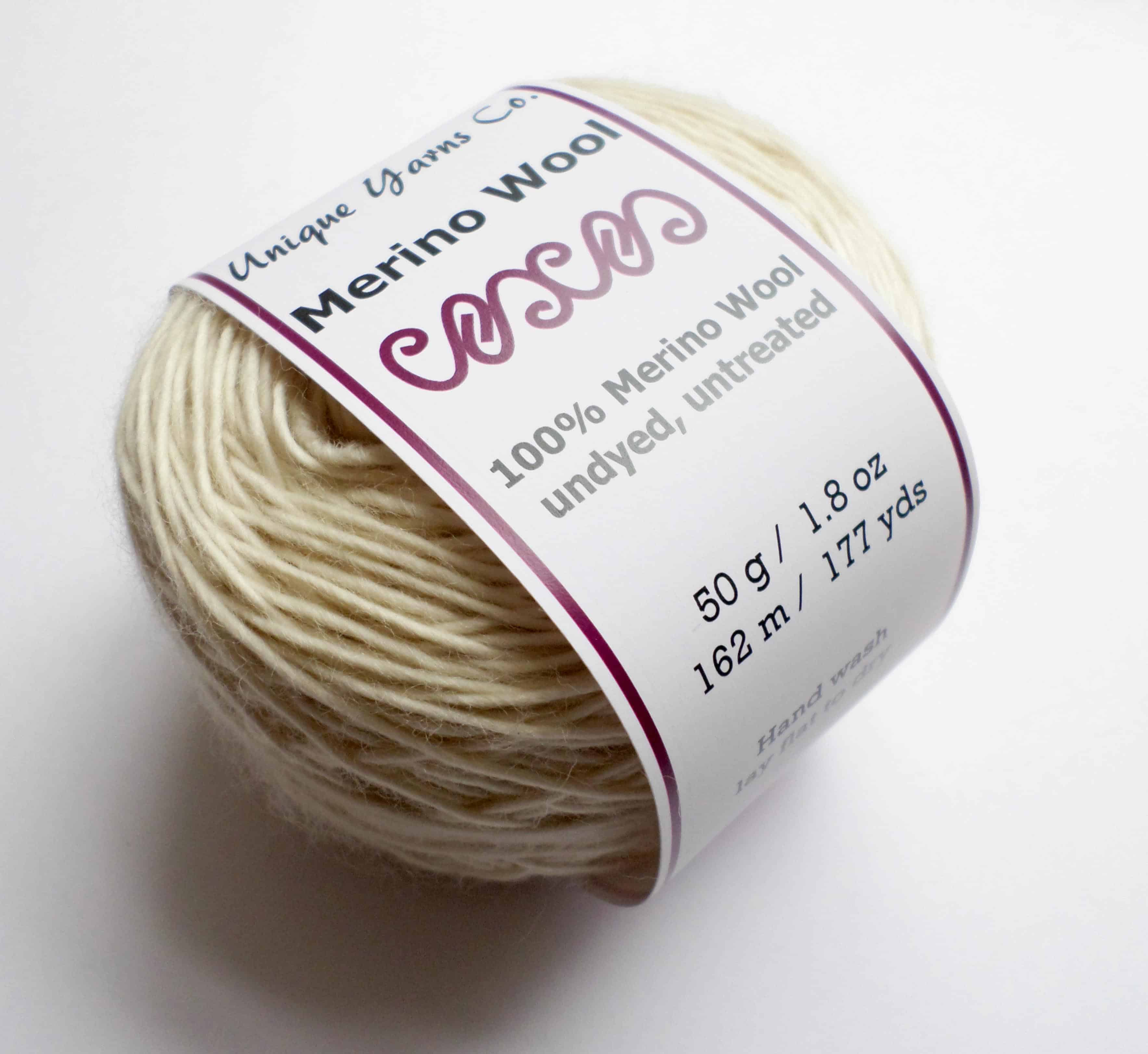 Undyed Natural 100% Merino Wool