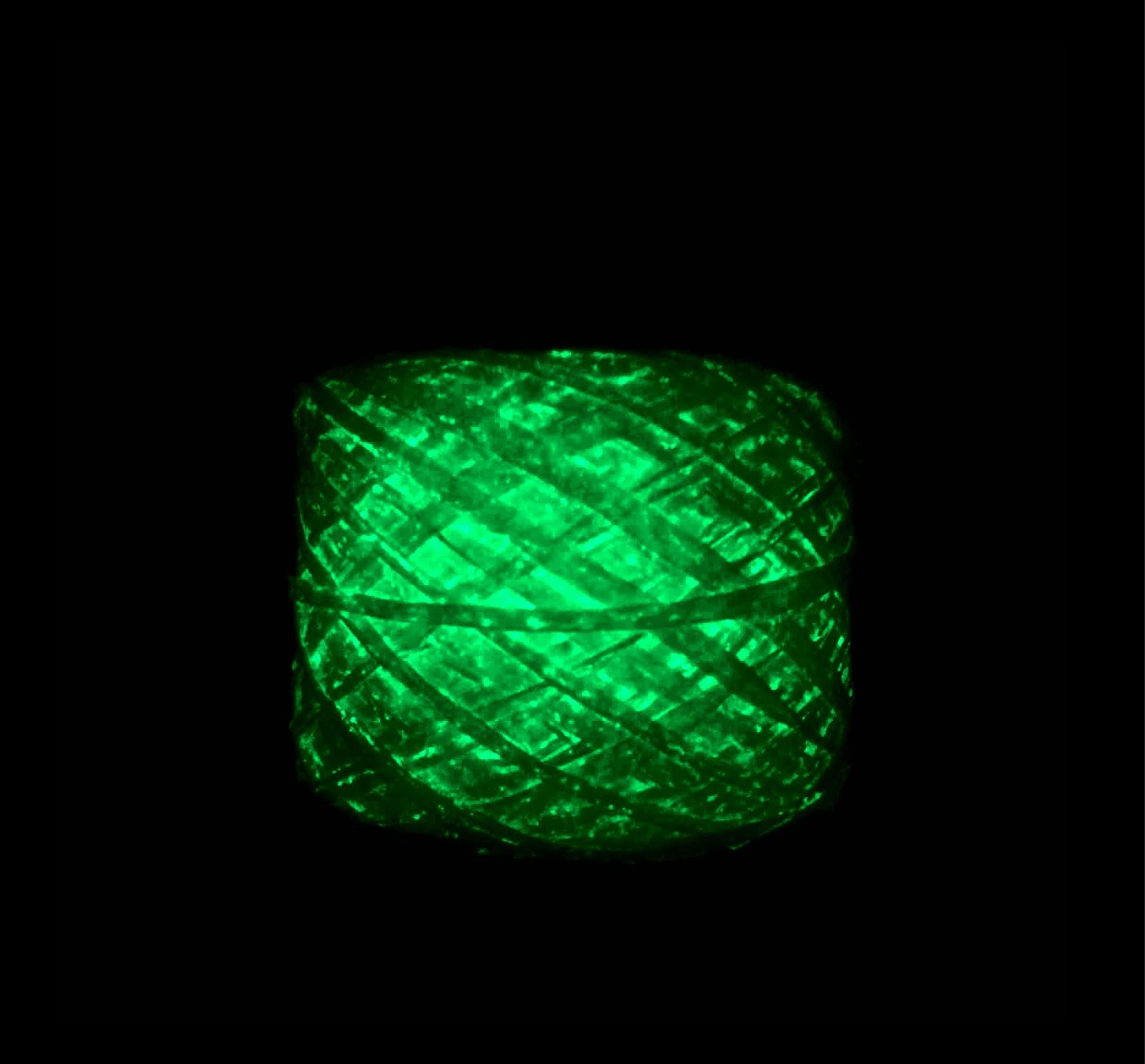 Glow-in-the-dark Phosphorescent Yarn (Blue)