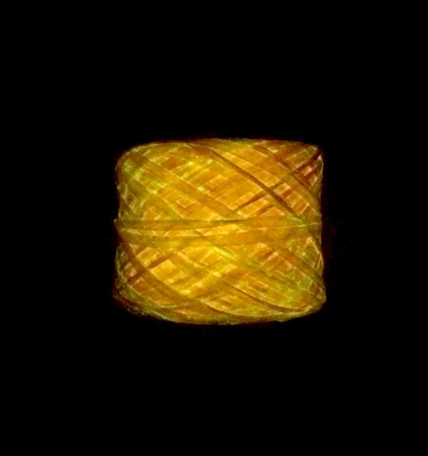 Glow-in-the-dark Phosphorescent Yarn (Orange)