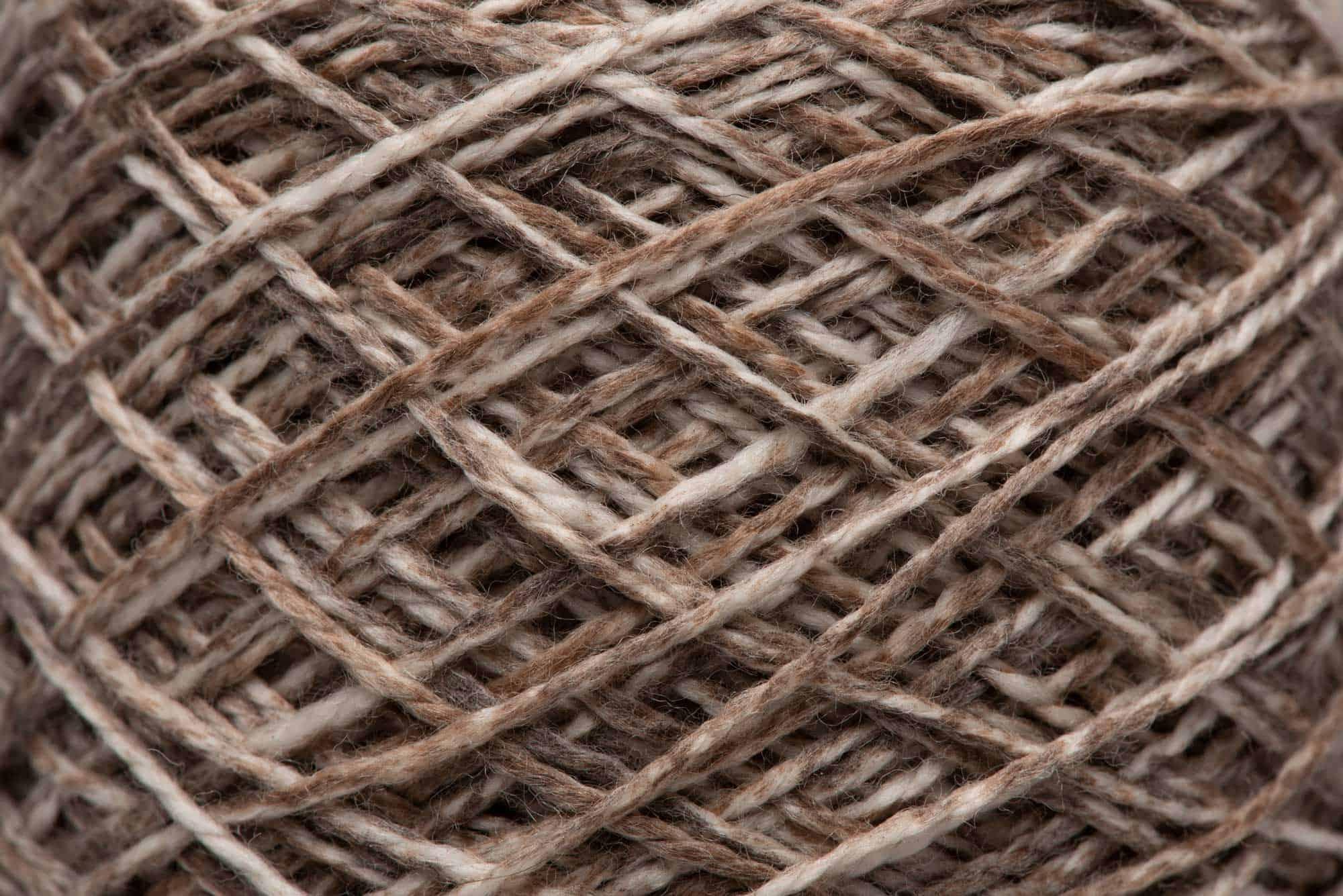 Burnt Umber-dyed 100% Merino Wool