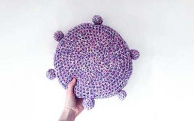 Cheer Crochet Pillow